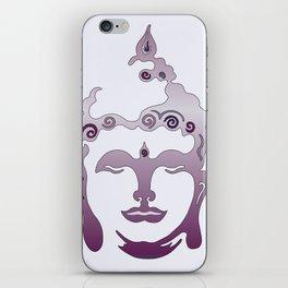 Buddha Head violet - grey iPhone Skin