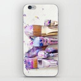 Six Dirty Paintbrushes (Photo) iPhone Skin