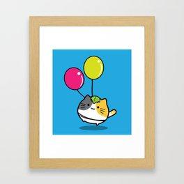 mochi neko Framed Art Print