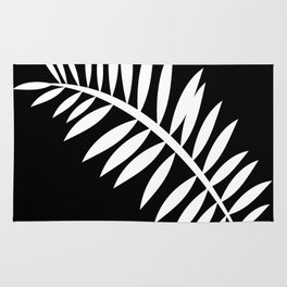 PALM LEAF WHITE LEAF Rug