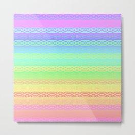 Freedom (pastel rainbow) Metal Print