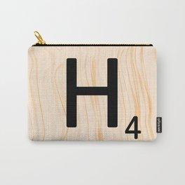 Scrabble Letter H - Large Scrabble Tiles Carry-All Pouch