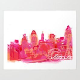 Rush Hour - Atlanta  Art Print