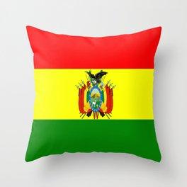 Flag of Bolivia Throw Pillow