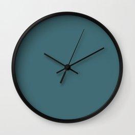 Solid Colors Series - Dark Desaturated Cyan Wall Clock