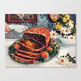 Roast with Mushrooms Canvas Print