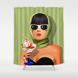 Summer love, summer ... sun and ice cream Shower Curtain