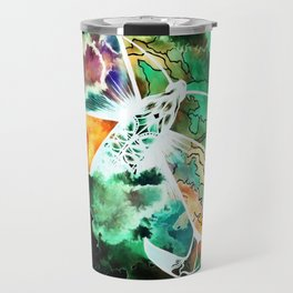 Supermassive black holes at the cores of the galaxies blast out radiation and ultra-fast winds Travel Mug