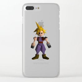 Cloud Low Poly - Final Fantasy VII Clear iPhone Case