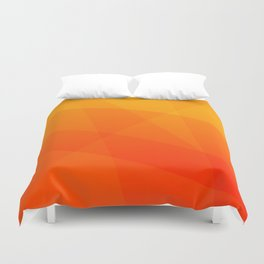 Orange Sunset Duvet Cover
