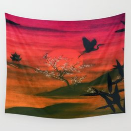 Oriental Sunset Wall Tapestry