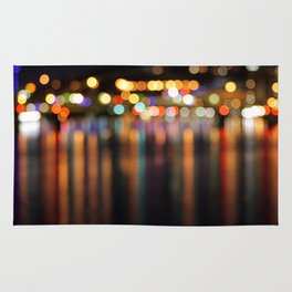 Bokeh City Night Lights Rug