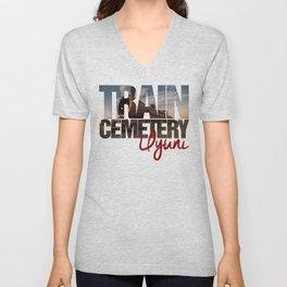 Train Cemetery, Uyuni Unisex V-Neck