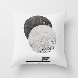 Calculating a Jump over the Moon Throw Pillow