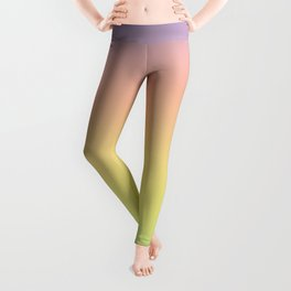 Pastel Colorful Pattern Abstract Rainbow Multi Colored Texture Leggings