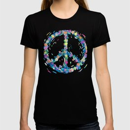 Pastel Hearts Whirled Peace & Love T-shirt