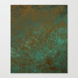 Green Patina Copper rustic decor Canvas Print