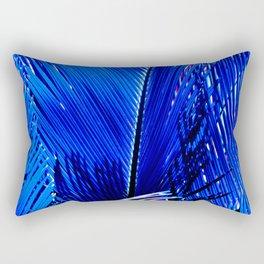 Sapphire Palm Rectangular Pillow