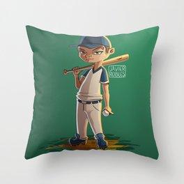 Baseball kid Throw Pillow