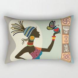 Afrocentric Chic I Rectangular Pillow
