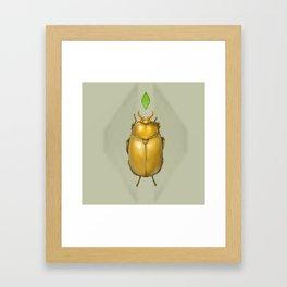 Gold bug Framed Art Print