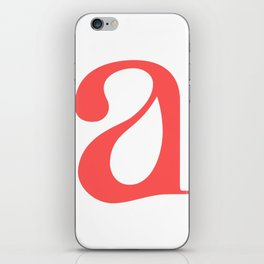 lowercase a iPhone Skin
