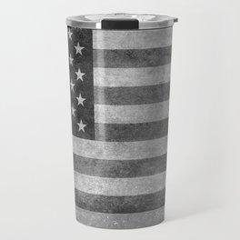 American flag - retro style in grayscale Travel Mug