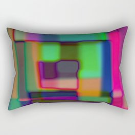 Colored blured background Rectangular Pillow
