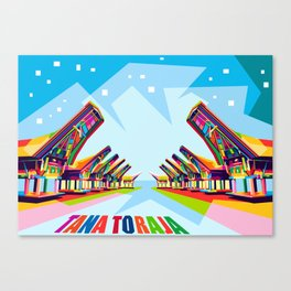 Toraja Land In Pop Art Canvas Print