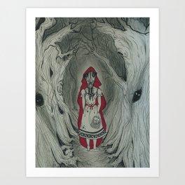 Feral Red Art Print