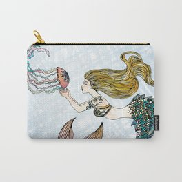 Jellyfish and Mermaid Carry-All Pouch