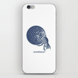 Insect's badge. Scarabaeus. iPhone Skin