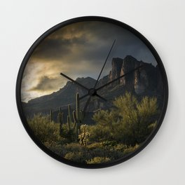 Rainy Day in the Superstitions Wall Clock