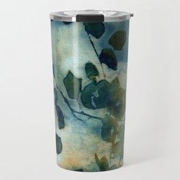 Abstract Shadows Cyanotype Travel Mug