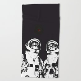 astronaut cats Beach Towel