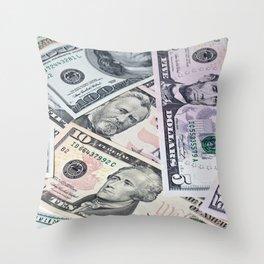US Dollar Throw Pillow