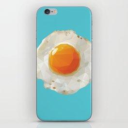 Fried Egg Polygon Art iPhone Skin