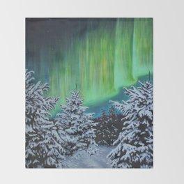 Northern Lights, Algonquin Park Throw Blanket