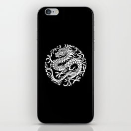 Traditional White and Black Chinese Dragon Circle iPhone Skin
