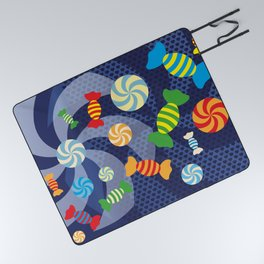 Rainbow Sugar Crush Picnic Blanket