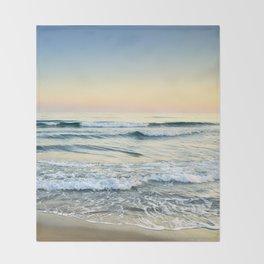 Serenity sea. Vintage. Square format Throw Blanket