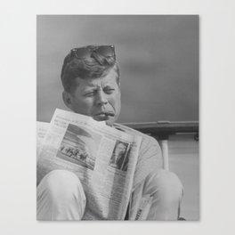 JFK Relaxing Outside Canvas Print