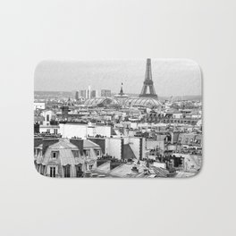 Paris Rooftops and the Eiffel Tower Bath Mat