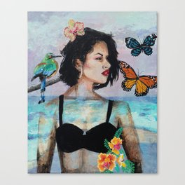 Portrait of a 90s Icon Canvas Print