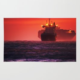 Ships in the windstorm Rug