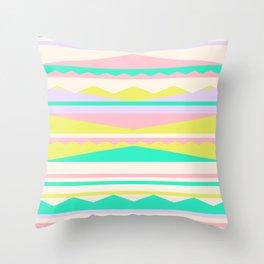 Color Blocks (Cute Nursery Pattern) (13-Nov-17) #ColorBlocks #Zala02Creations #Society6 Throw Pillow