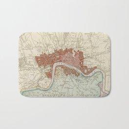 Vintage Map of London England (1754) Bath Mat
