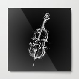 Black Cello Metal Print