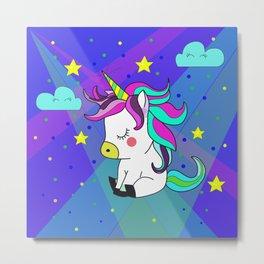 Love Unicorn Metal Print