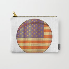 Tennis Stars And Stripes Carry-All Pouch